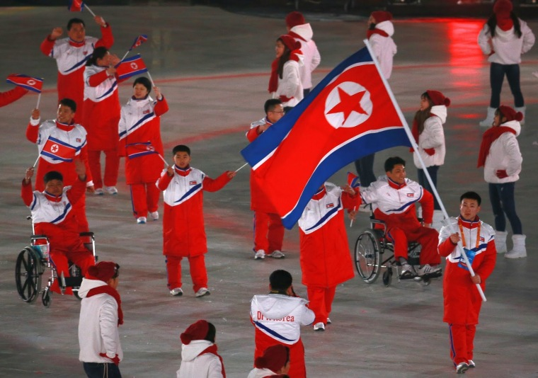 north-south-korea-paralympics-march